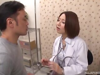 Japanese nurse is keen to throat some dig up